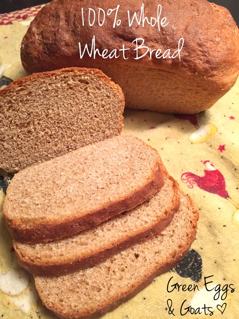 whole Soft 100% wheat bread recipe - Green Eggs & Goats