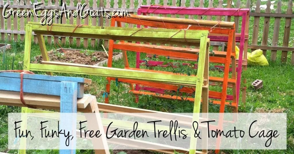 Fun Funky Free Garden Trellis and Tomato Cage