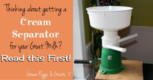 Thinking about getting a cream separator