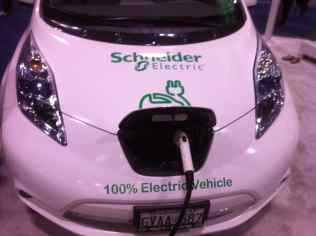 Schneider Electric Car Charging Nissan Leaf