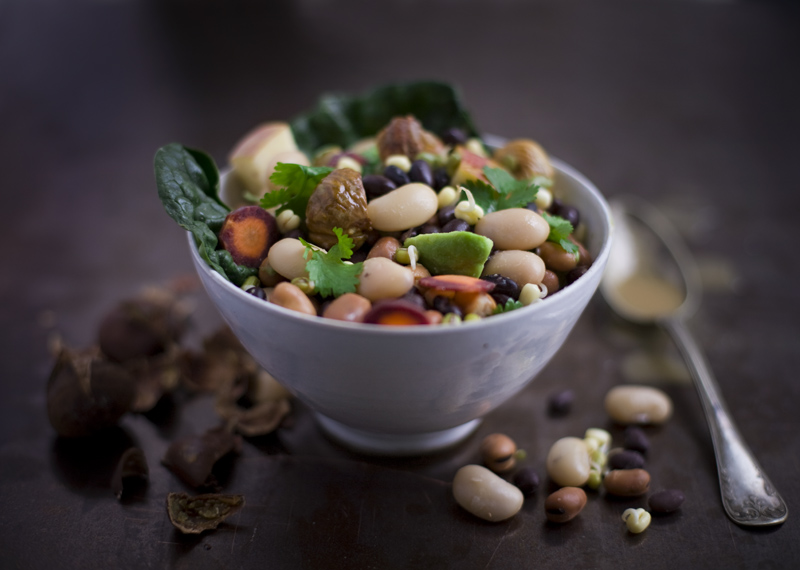 Bean_chestnut_salad