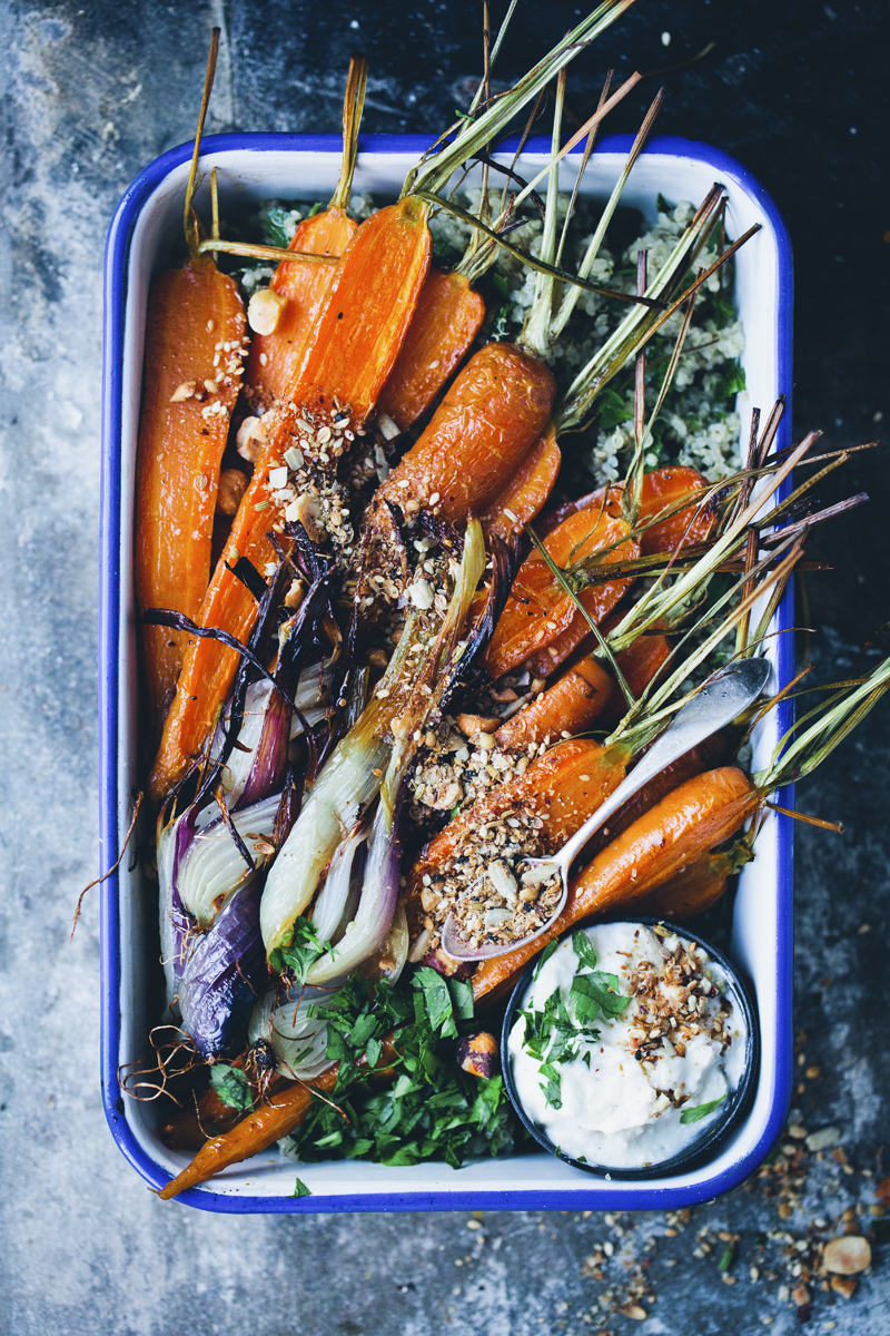 Roasted Carrots & Dukkah
