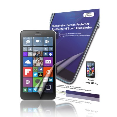 Crystal Oleophobic Screen Protector for Microsoft Lumia 640 XL package picture