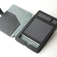 Leather Case with Built-in Stand, open shot of interior
