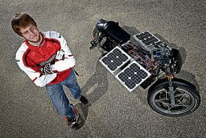 purdue university solar motorcycle kaDeD 69 300x201 $50 Motorcycle Retrofitted To Run on Solar Power