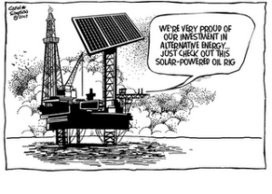 Solar Oil Rig 300x215 Happy New Year ! Here are 2011s Hottest Green News