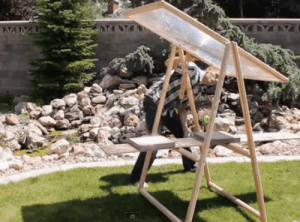 fresnel lens frame diy 300x222 How to Build an $8 Fresnel Lens Solar Concentrator from Old TV