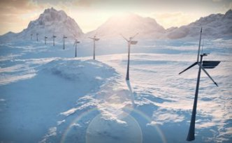 stock-footage--b-electricity-wind-turbines-farm-power-clean-alternative-energy-winter-snow-loop