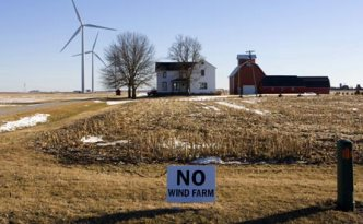 Anti wind farm lobby :  near Shabbona, Illinois