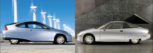 "ev 2 comparo 300x104 Another GM EV1 Reborn, John Waylands ""Silver Streak"""