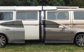 Tesla Model S + Two Volkswagen Vanagon Westfalia = Stretchla