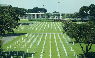 The American cemetery in Manila, Philippines