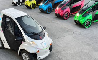 Toyota i-Road and COMS EVs in Grenoble, France