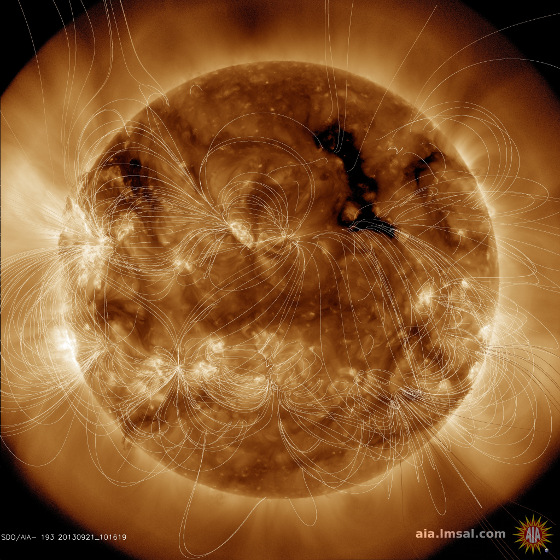 solar corona magnetic field sun