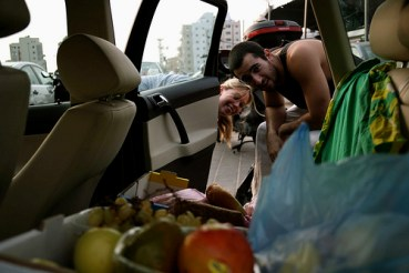 Green Prophet's Jesse Fox is Gleaning Feeding on Fugee Fridays
