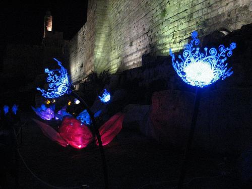 Night Garden in Jerusalem Exhibited the Beauty of Solar Power