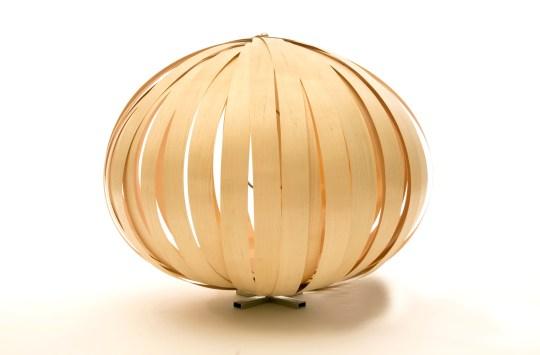 upcycled wood lamp