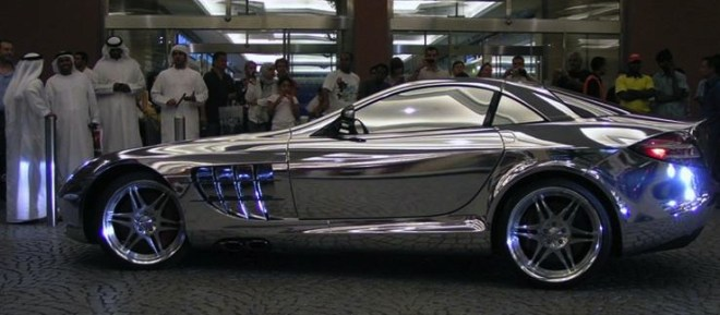 white gold Mercedes