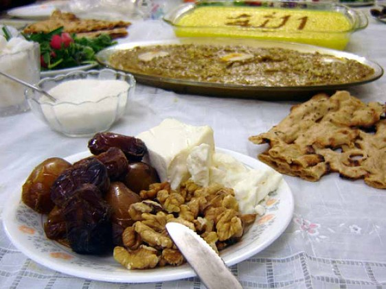 Joyful Sizdah Bedar (Persian New Year) food