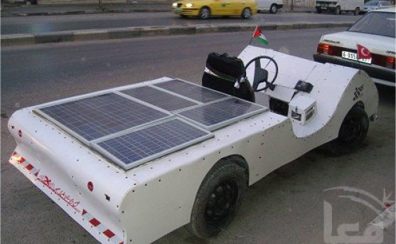 palestine solar powered electric car