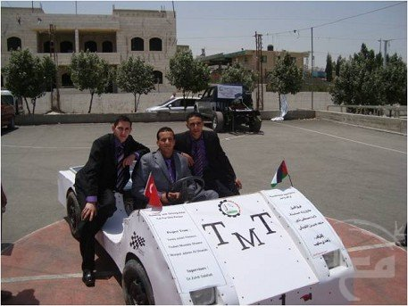 solar power electric car hebron west bank