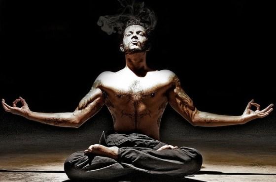 sexy yoga man pose