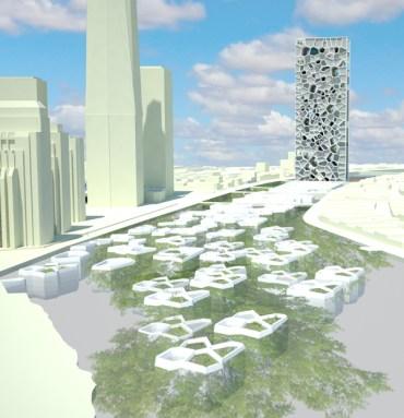 Can An L-Shaped Skyscraper Scrub The Jordan River?