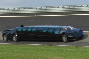 Ride the Electric Abu Dhabi Stretch Limo SuperBus