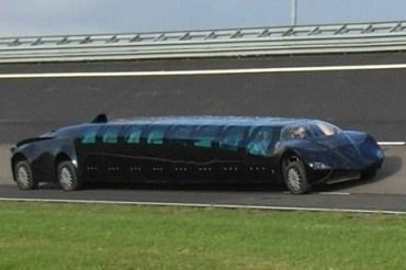 Ride the Electric Abu Dhabi Stretch Limo SuperBus
