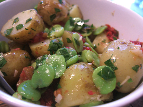 RECIPE: Potato Salad with Fresh Fava Beans