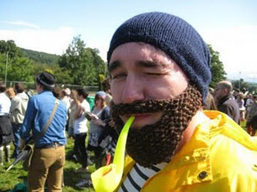 knitted beard