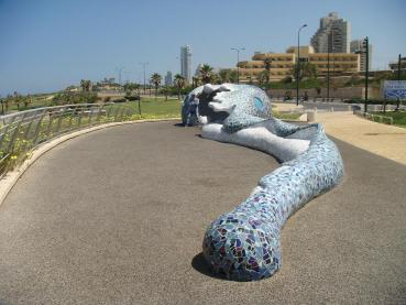 Mosaic of Lost Socks at Festival Spotlighting Recyclables as Art