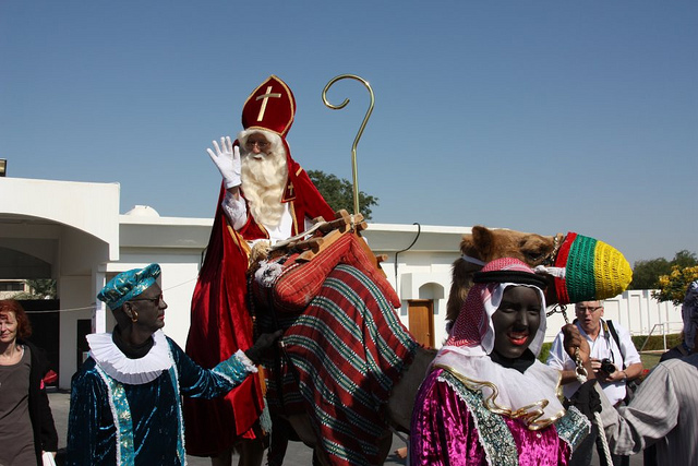 Santa on a Camel in Qatar: are the Reindeers Protesting?