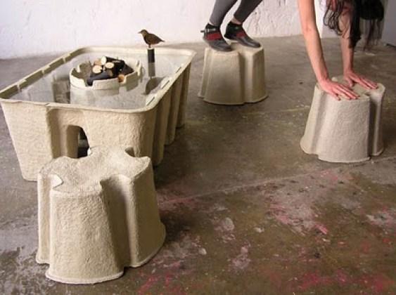 """""""pulp paper furniture"""""""
