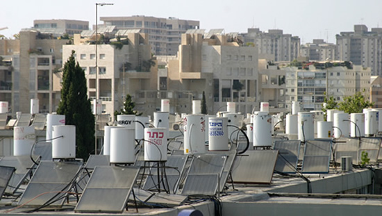 solar hot water heaters israel