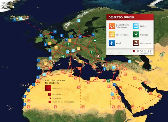 solar energy, MedGrid, Desertec, Dii, Algeria, Tunisia, Mediterranean Sea, energy, alternative energy, energy future