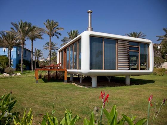 Prefab, minimalist, green design, green building, nomad, carbon footprint, Werner Aisslinger, Lebanon, Beirut, Mediterranean, modular construction