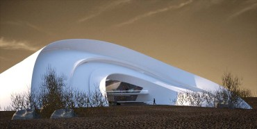 Curvy Desert Home Designed by Iranian Students Mimics the Snail