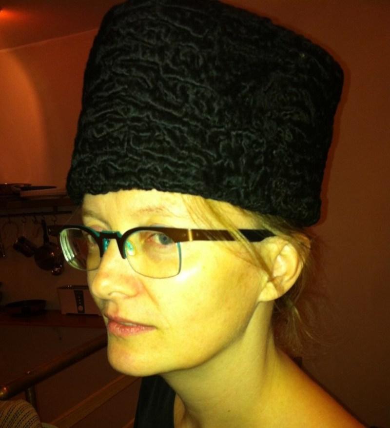 Caught Wearing An Aborted Lamb Fetus Karacul Hat!