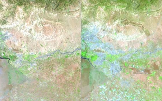 urban growth morocco agadir nasa map