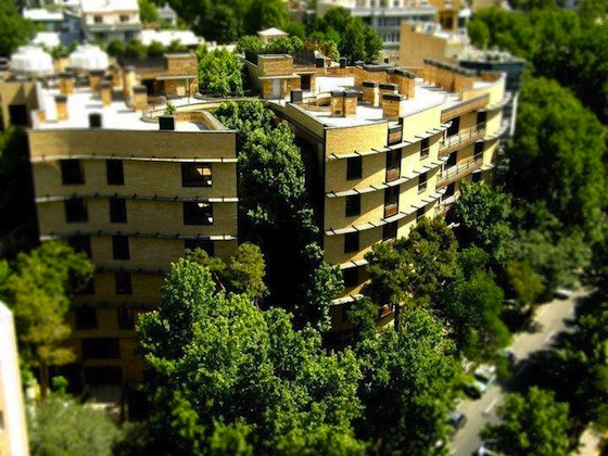 Deluxe Iranian Residential Complex is Built Around the Trees