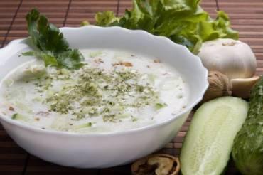 Cold Tarator Soup for Nine Meatless Days