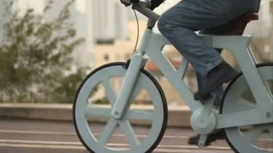 Cardboard Bike from Israel Makes Cycling Even Greener