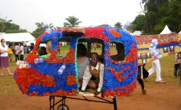 Ugandan Eco-Artist Wins TED Prize for an Amusement Park Made of Plastic Bottles
