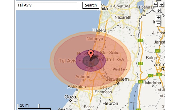 nuclear bomb tel aviv israel