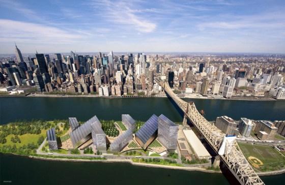 Clean tech, Cornell, Technion, Israel, Roosevelt Island, Tech Hub, Net Zero Energy, solar power, geothermal