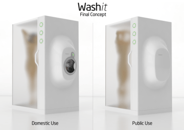Washit is a Shower and Washing Machine in One