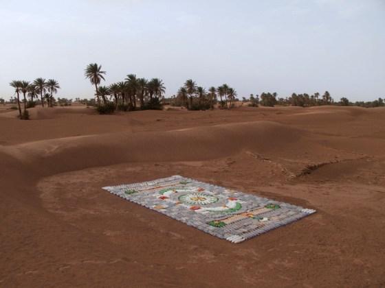 recycled materials, WE MAKE CARPETS, Taragalte Festival, Morocco, eco design, plastic carpet, bottle carpet