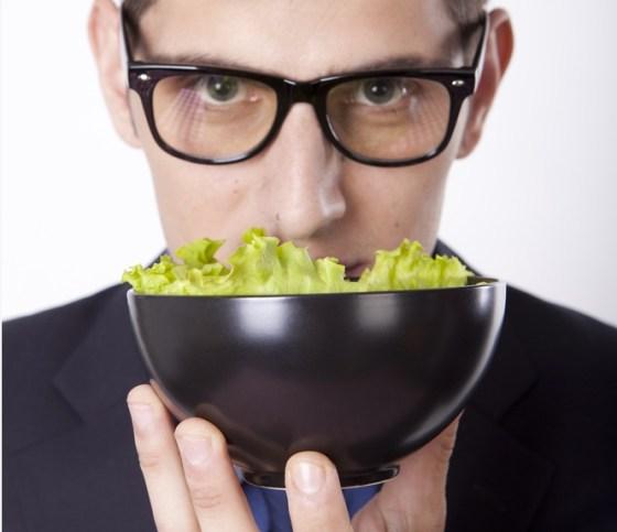 salad model man wearing glasses