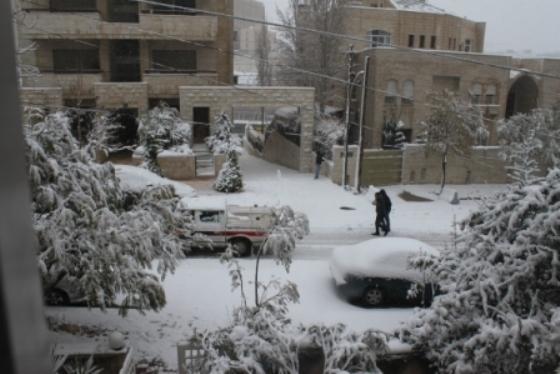 Amman snowstorm